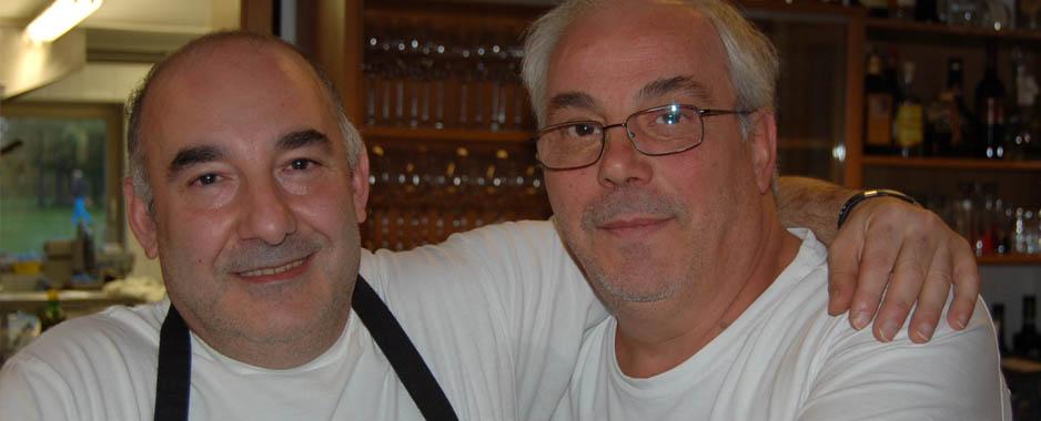Giorgio e Alfredo: ad un amico non si nega mai un bicchiere di Grappa